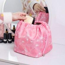 Women Drawstring Makeup Bag Fashion Travel Cosmetic Lazy Storage Bag Toiletry Organizer Case Storage Pouch Accessories Supplies