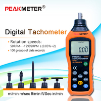 Free shipping HYELEC MS6208A contact digital tachometer multi functional measure High Performance 50 19999RPM max