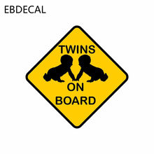 EBdecal TWINS ON BOARD For Auto Car/Bumper/Window/Wall Decal Sticker Decals DIY Decor CT5762(China)