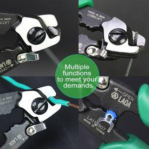Image 4 - Forbici multifunzionali a 7 pollici del cavo metallico delle forbici di forbici del cavo metallico di LAOA CR MO fatte in Taiwan