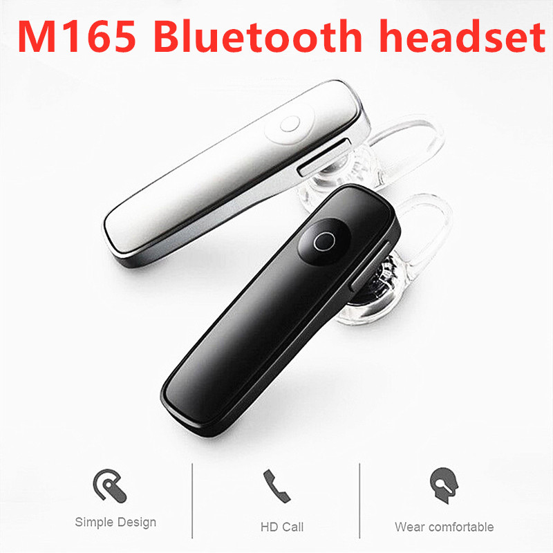 1PC New M165 Bluetooth 4.1 Headset Ultralight Wireless Earphone Hands-free Earloop Earbuds IOS Android Sports Music Earpieces