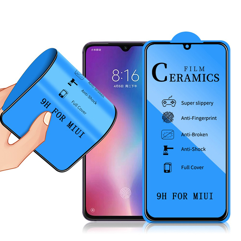 Curved Full Cover Protective Glass On The For Xiaomi Redmi Note 7 8 Pro K20 Pro Tempered Screen Protector For Xiaomi Mi 8 9 9se