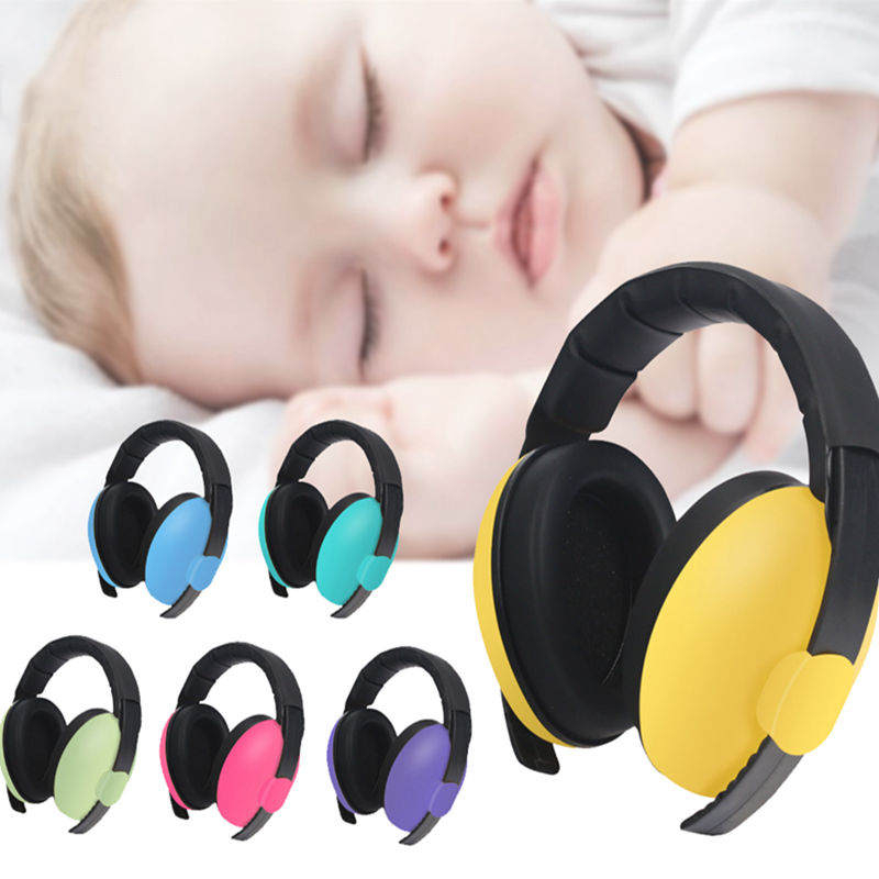 Loocycling Baby Children Sleep Ear Defenders Noise Proof Ear Protectors Baby Boys Girls Anti -noise Durable Headphones