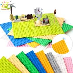 HUIQIBAO 32*32 точки опорная пластина для маленьких кирпичей опорная плита доска городские друзья фигурки строительные блоки игрушки для детей