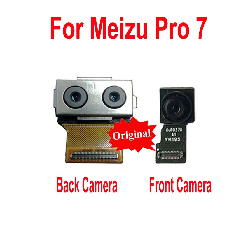 Original Tested Working Small Facing Front Camera For Meizu Pro 7 Pro7 M792M M792H Big Main Rear Back Camera Flex Cable