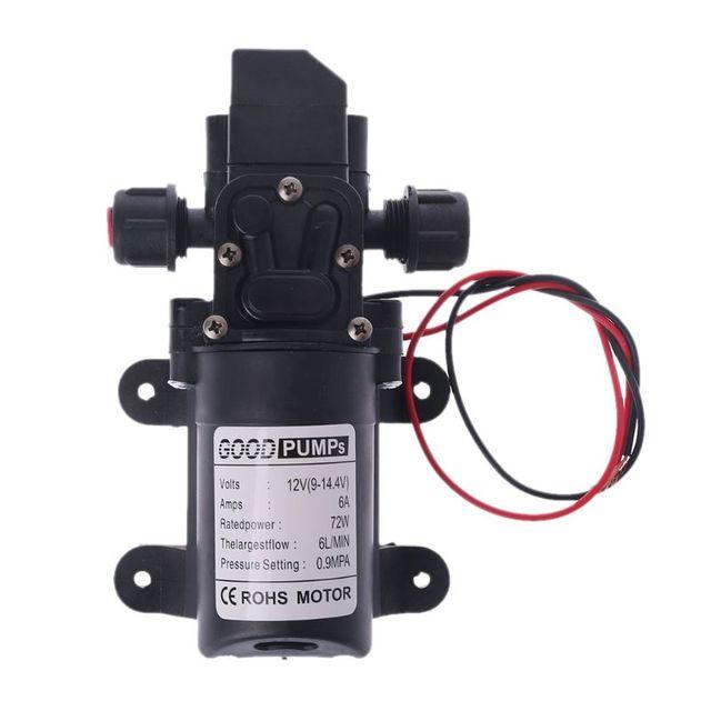 Мембранный самовсасывающий насос высокого давления, 12 В постоянного тока, 130 фунтов на кв. дюйм, 6 л/мин, 70 Вт