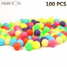 100 шт./упак. Цветной шарики для пинг-понга 40 мм 2,4g развлечения мячи для настольного тенниса разноцветные для игры, рекламная продукция