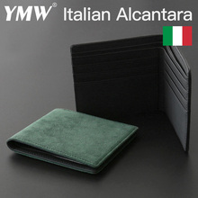 YMW ALCANTARA Wallet Women & Man Card Holder Bag Luxury Artificial Leather Slim Cards Small Thin Card Package
