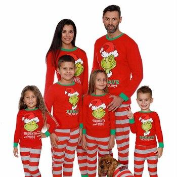 Фото - Cartoon Print Pajamas Mother Father Kids Sleepwear Clothes Christmas Mom and Me Warm Family Matching Nightwear Clothing 2PCS/SET haig m father christmas and me
