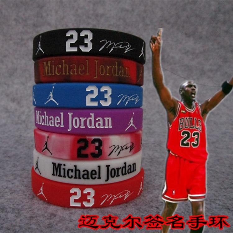 Basketball Star Sports Bracelet Silicone Wrist Band Supplies Kobe Curry James Owen Nike Air Jordan Bracelet