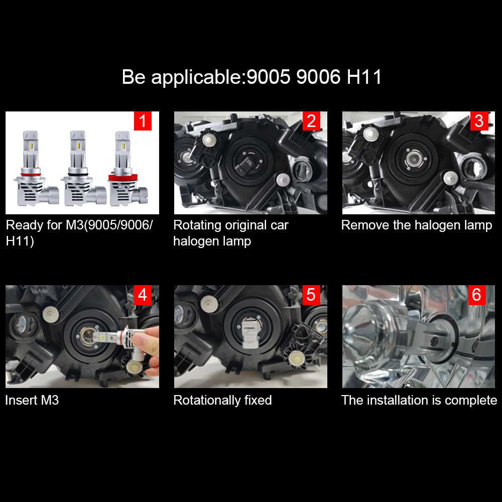 2pcs 10000Lm H4 H7 หลอดไฟ LED Canbus ZES H9 H8 H11 HB3 9005 HB4 9006 ข้อผิดพลาดฟรี LED สำรอง 32V 60W รถย้อนกลับ