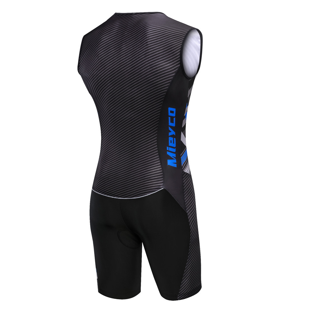 Image 2 - Триатлон, Велоспорт, джерси, без рукавов, одежда для велоспорта, мужской кожаный костюм, велосипед, Джерси, набор, Триатлон, костюм для плавания, бега, верховой ездыВелосипедные комплекты   -