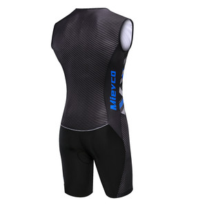 Image 2 - Triathlon Cycling Jersey Sleeveless Cycling Clothing Man Skin Suit Bike Jersey Set Triathlon Suit For Swimming Running Riding