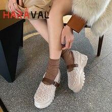 Haraval 2020 womne толстая подошва тонкие туфли с пряжкой; Цвета: