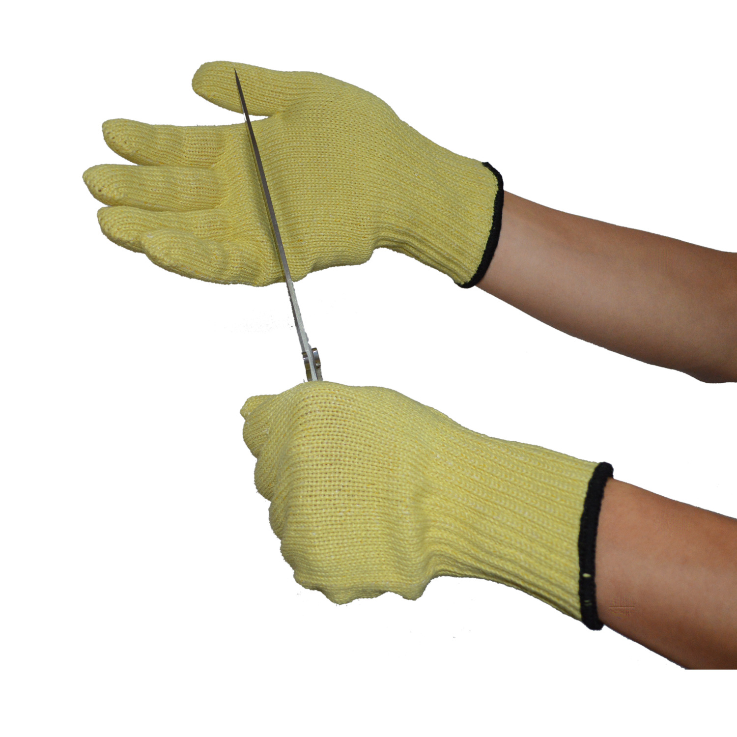 High-temperature Resistant Flame Retardant Cotton Gloves Anti-Cutting Working Gloves Aramide Fibre HPPE10 Needle Machine Knitted