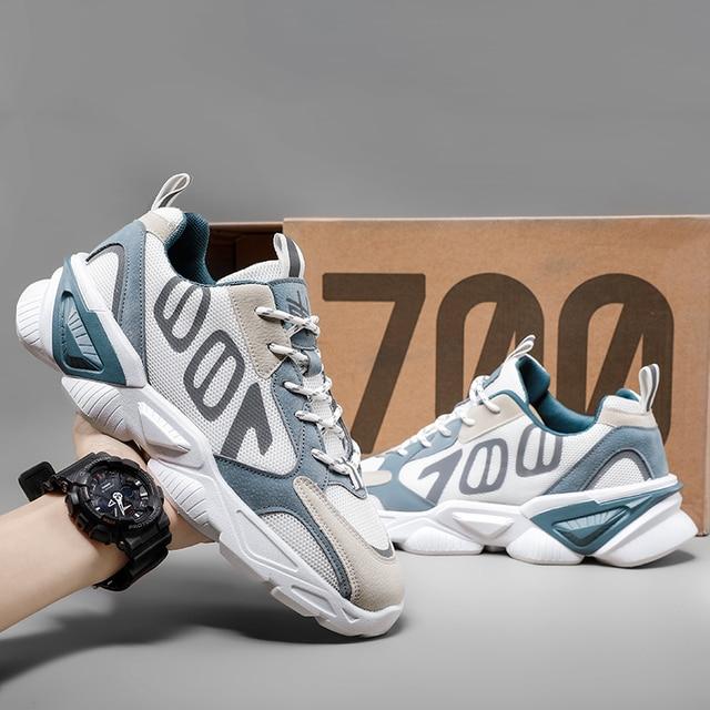 QGK-Zapatillas deportivas de malla transpirable para hombre, Tenis masculinos para correr, informales, para exteriores, Primavera/Verano, 700 5