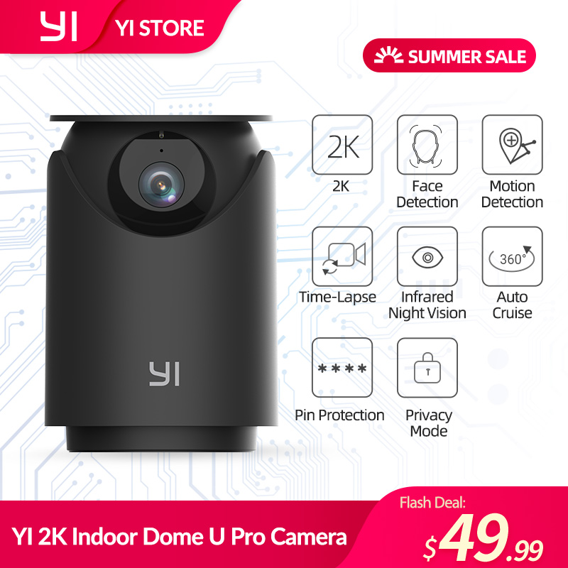 YI 2K в маскирующем колпаке для внутренних помещений U Pro Камера безопасности IP Cam скорость панорамирования и наклона с поддержкой Wi-Fi 360 ° Авто ...