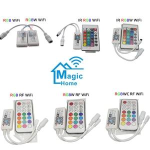 Мини беспроводной WIFI LED RGB / RGBW управление ler RF дистанционное управление IOS/Android смартфон для RGBCW/RGBWW RGB Светодиодная лента, DC12-24V