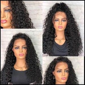 Image 3 - Jerry, вьющиеся передние человеческие волосы, искусственные бразильские неповрежденные волосы, Короткие вьющиеся парики для женщин, предварительно выщипанный парик