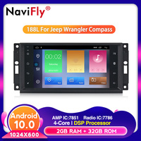 Android 10.0 HD 1024*600 Head Unit GPS Navi Radio Stereo Car DVD Player for JEEP Patriot Compass DODGE Journey Chrysler Sebring