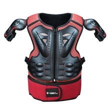 Kind Motorrad Volle Körper Schützen Rüstung Brust Wirbelsäule Weste Anzüge Kid Reiten ATV Schutz Jacke