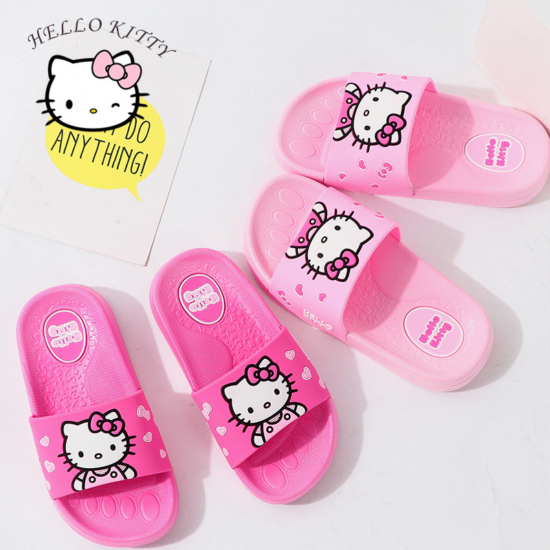 Children Cartoon Slippers For Girls Summer Beach Sandals Kids Bathroom Toddler Indoor Home Shoes Hello Kitty Shoes For Girls