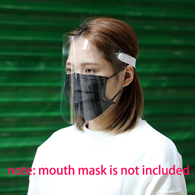 5pcs Full Face Cover Mask Clear Face Plastic Mask Transparent Mouth Cover Full Face Protect Tool Anti flu Spread