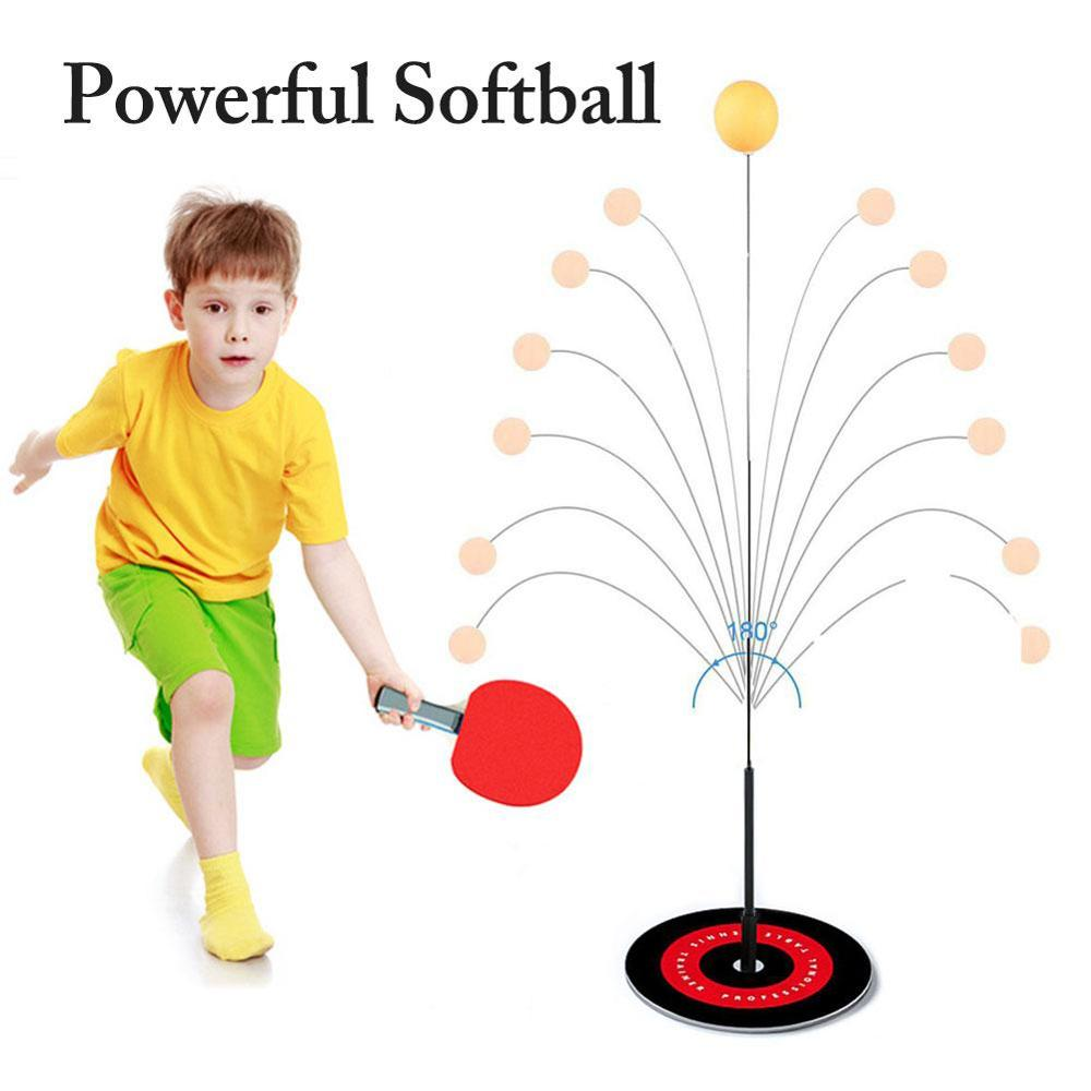 Portable Table Tennis Trainer Table Tennis Soft Shaft Training Machine Elasticity Kid Adult Ping Pong Practice Trainer 2020 New