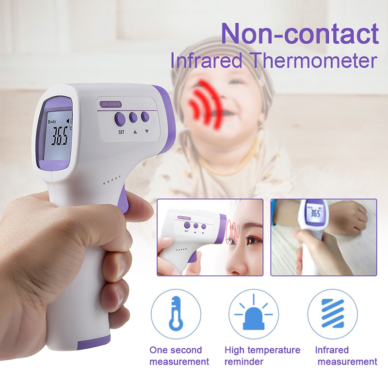 Liquid Crystal Infrared Thermometer Non-contact Digital Thermometer Temperature Measuring Point 32℃-42.5