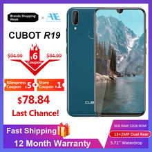 Cubot R19 5.71''Water Drop Screen Android 9.0 19:9 3GB 32GB Smartphone Quad Core Fingerprint Dual Back Cams Face ID Mobile Phone(China)
