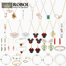 Original swa tropical leaf Mickey Minnie series necklace earrings ring fashion luxury suitable for