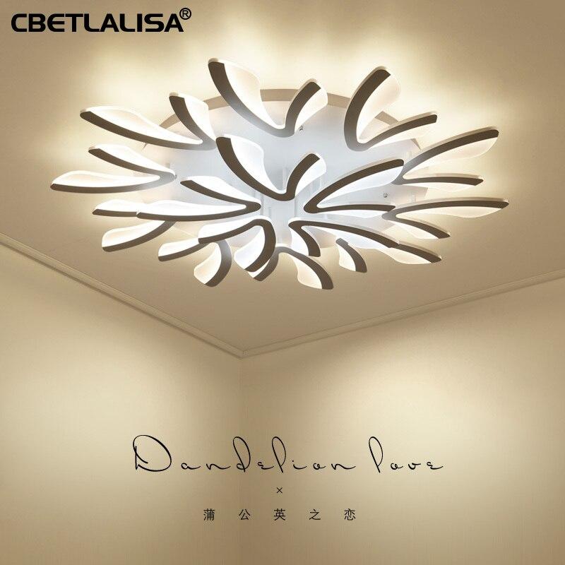 CBETLALISA.Led ceiling chandelier lights for living room bedroom dining room cabinet, white and black color, AC90-260V chandelier