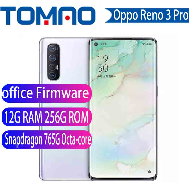 "En Stock Original Oppo Reno 3 Pro 5G teléfono inteligente Snapdragon 765G Octa Core 12G RAM 256G ROM 5 cámaras VOOC 6,5 ""Pantalla huella Teléfonos móviles    - AliExpress"