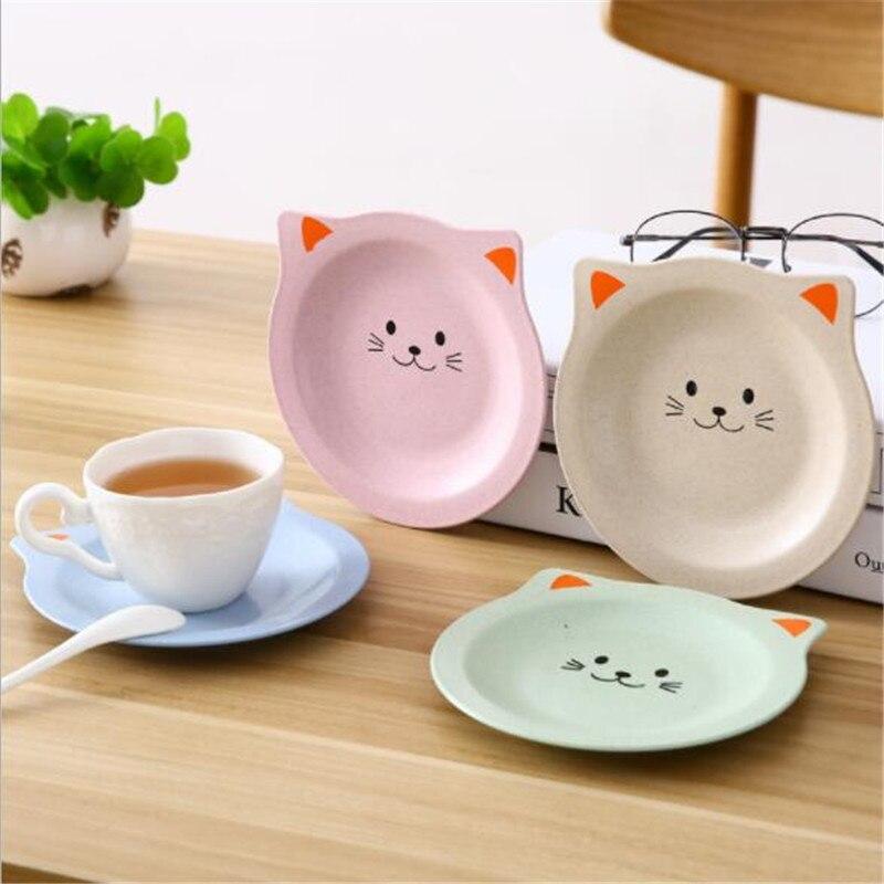 1 шт. креативная Подставка под столовые приборы для кошек, водонепроницаемая японская изоляция для кухни, тарелка для тарелок, нескользящая