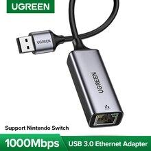 UGREEN USB 3.0 Ethernet adaptörü USB 2.0 ağ kartı RJ45 Lan Windows 10 Xiaomi Mi kutusu 3 S nintend anahtarı Ethernet USB