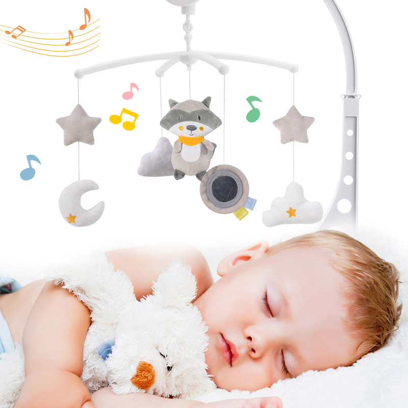Baby Toys 0-12 Months Baby Crib Holder Rattles Kids Music Box Bed Toy Carousel Mobile For Crib Toddler Bed Bell Kid Rattle Toy