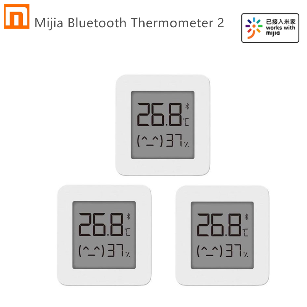 Fast shipping Xiaomi Mijia Bluetooth Thermometer 2 Wireless Smart Electric Digital Hygrometer Thermometer Work with Mijia APP