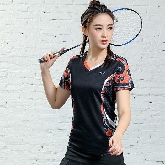 V-образная горловина, короткий рукав, форма для настольного тенниса, один топ для мужчин и женщин, летняя одежда для учеников средней школы, студентов средней школы - Цвет: B2625female2