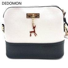 2019 bolsos para mujeres bolsos calientes de mujer Bolso pequeño con armazón de moda de cuero con juguete de ciervo bolso de hombro Casual para mujer