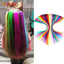 Alileader 57Color One Clip In Hair Extensions Ombre Synthetic Clip In Hair Extensions Long Straight One Piece Clip-In Hairpieces
