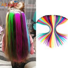 Alileader-extensiones de cabello sintético con Clip, extensiones largas y rectas de una pieza, de 57 colores
