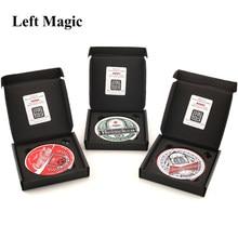 Montanha russa truques mágicos moeda em copo de vidro close-up palco rua magia adereços mágico ilusão truque mentalismo puzzle brinquedo