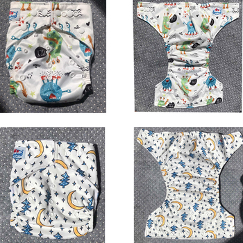 Newest Prints Baby Cloth Diaper 15pcs My Choice Patterns Reusable Nappy Covers Babyland Microfleece Pocket Diapers 3-15KG Baby