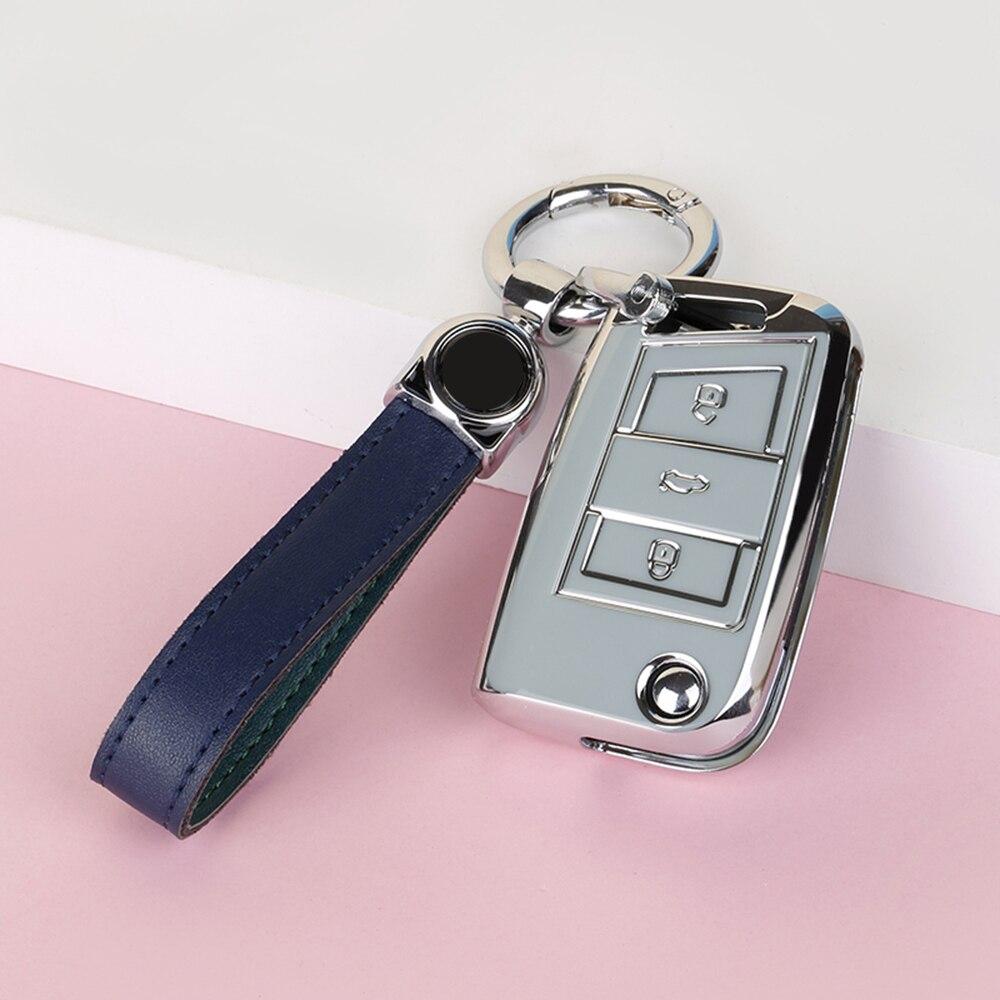Чехол для автомобильного ключа из ТПУ для Volkswagen VW Golf 7 Mk7 Seat Ibiza Leon FR 2 Altea Aztec для Skoda Octavia защитные чехлы