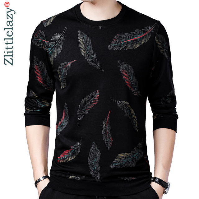 2020 Designer Pullover Feather Men Sweater Mensthin Jersey Knitted Sweaters Mens Wear Slim Fit Knitwear Fashion Clothing 41241
