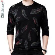 Jersey de diseñador con plumas para hombre, Jersey delgado de punto, ropa de punto ajustada, ropa de punto 2020