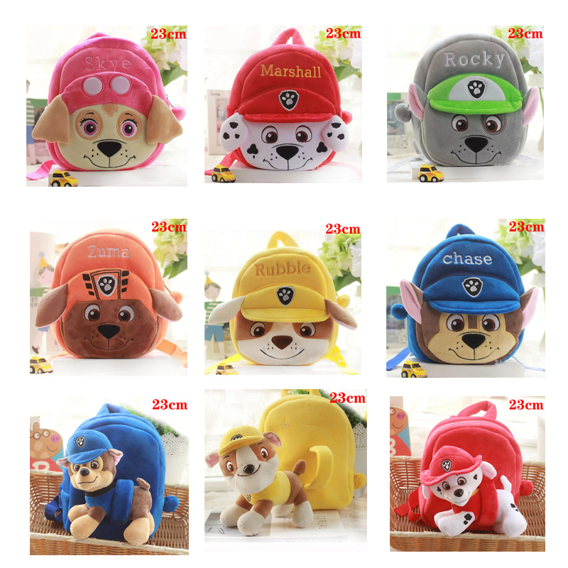 Paw Patrol Dog Cartoon Plush Backpack Chase Anime Doll Toy Separable Small School G34P Bag Soft Harmless Children Action Figures