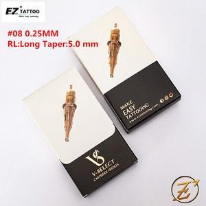Image 2 - EZ V Select Tattoo Cartridge Tattoo Needles #08 0.25mm Bugpin Round Liner Micro Permanent Makup Tattoo accessaries 20 pcs/Box