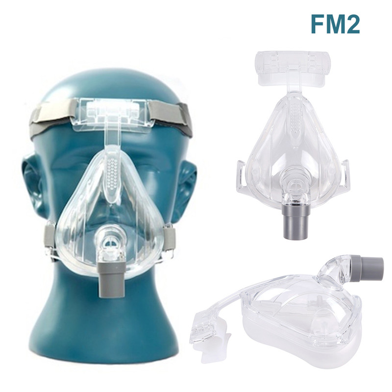 Full Face CPAP Mask Auto with Adjustable Headgear Strap Clip for Sleep Apnea Patient 1