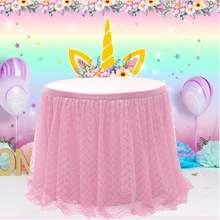Lace Tablecloth Table Skirt Wedding Banquet Birthday Party Home Decoration Tableskirt  table tulle skirt
